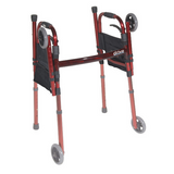 "Drive Medical Deluxe Folding Travel Walker with 5"" Wheels"