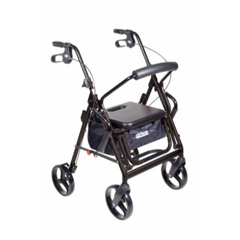 Duet Dual Function Transport Wheelchair Walker Rollator - CSA Medical Supply