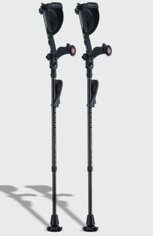 Ergoactives Ergobaum Carbon Fiber Black Mamba Adult Crutch (Pair)
