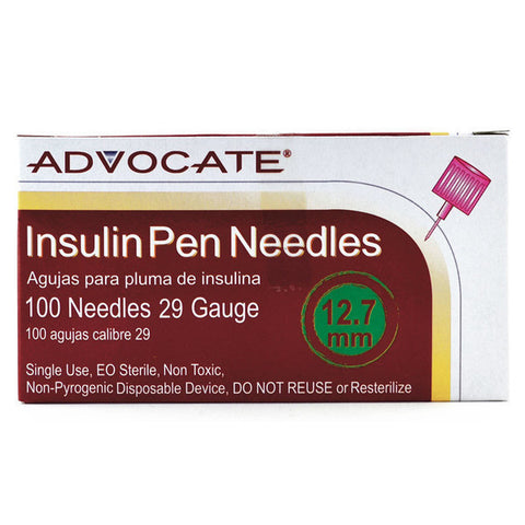 Advocate Insulin Pen Needles 100 box
