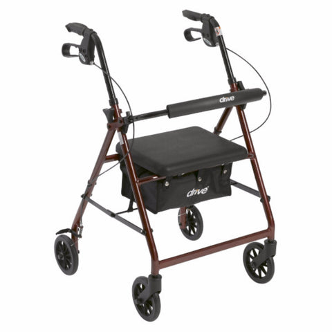 "Drive Medical Foldable Aluminum Rollator with 6"" Wheels"