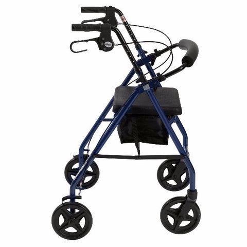 Aluminum Rollator with Fold Up and Removable Back Support and Padded Seat by Drive Medical