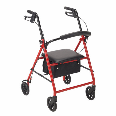 "Drive Medical Four Wheel Rollator with 6"" Wheels - CSA Medical Supply"