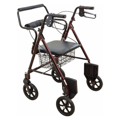 Roscoe Transport Rollator With Padded Seat