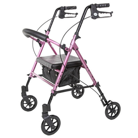 Viverity Deluxe Height Adjustable Aluminum Rollator