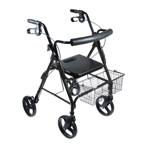 "DLite Lightweight Walker/Rollator with 8"" Removable Wheels"