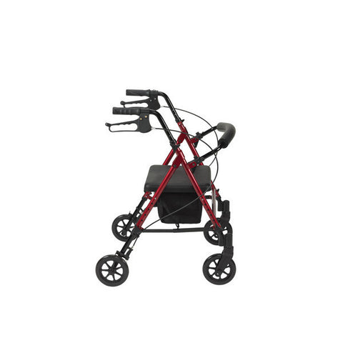 "Adjustable Height Rollator with 6"" Wheels by Drive Medical"
