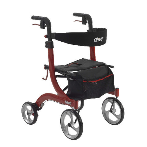 "Nitro Aluminum Rollator With 10"" Casters - CSA Medical Supply"