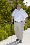 Drive Medical Bariatric Aluminum Folding Cane Height Adjustable