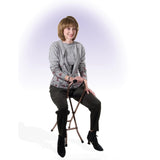 Folding Lightweight Cane with Sling Style Seat by Drive Medical