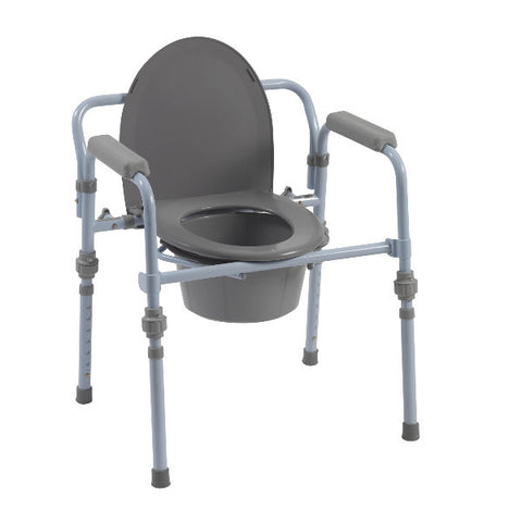 Drive Medical Folding Bedside Commode with Bucket and Splash Guard - CSA Medical Supply