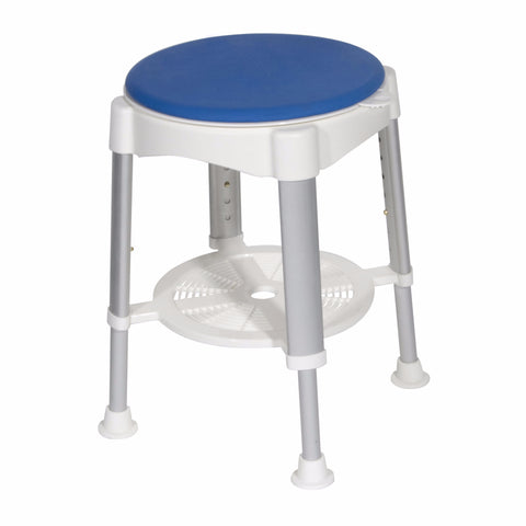 Bath Stool with Padded Rotating Seat