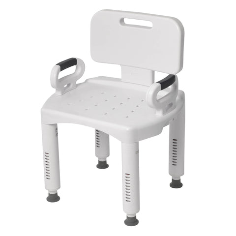 Drive Medical Premium Series Shower Chair  with Back and Arms