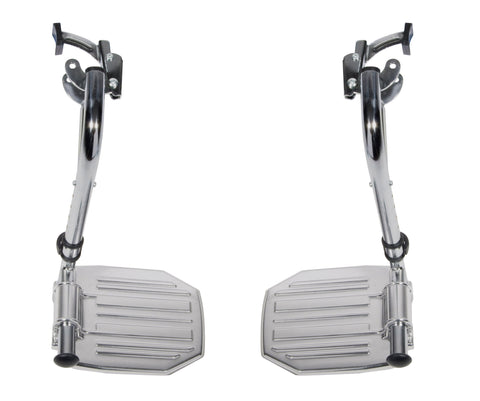 Chrome Swing Away Footrests with Aluminum Footplates, 1 Pair - CSA Medical Supply