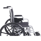 Poly Fly Light Weight Transport Wheelchair with Swing away Footrests