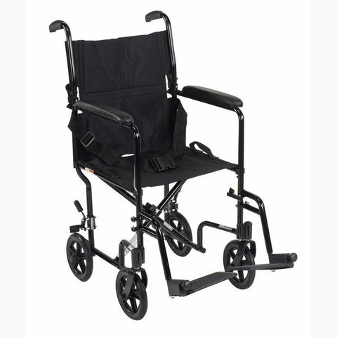 Drive Medical Aluminum Transport Wheel Chair 17""