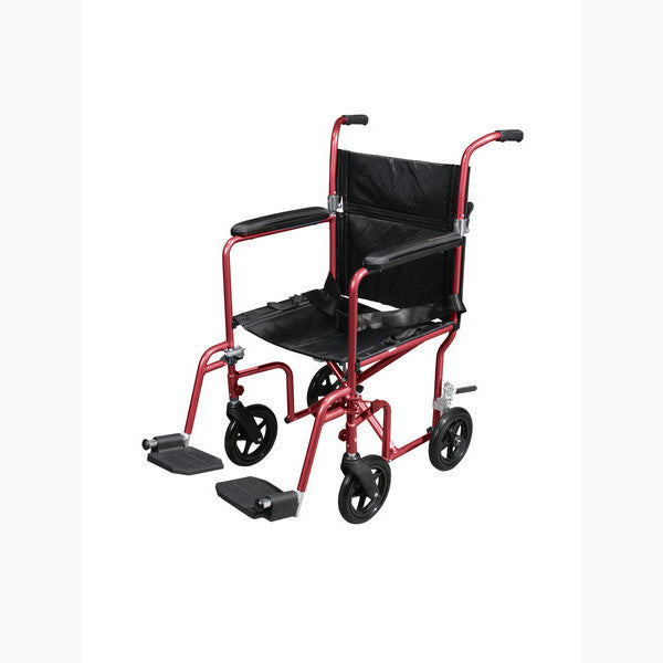 Flyweight Lightweight Transport Wheelchair With Removable