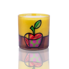 "6""x 6"" Romero Britto® Candle ""The Apple"""