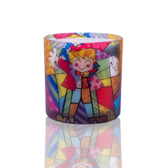 "6""x 6"" Romero Britto® Candle ""Big Hug"""
