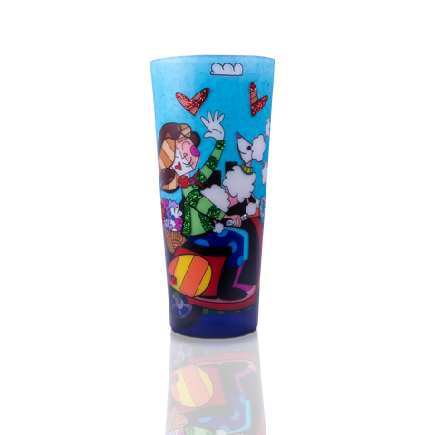"16"" Romero Britto Candle ""Love Paris"""