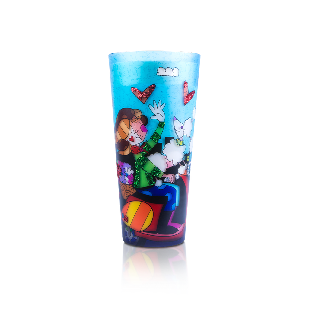 "18"" Romero Britto® Candle ""Love Paris"""