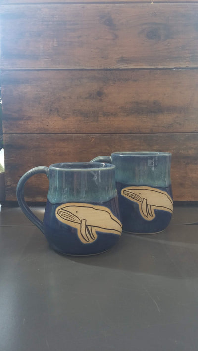 Deep Blue Sea Whale Mugs