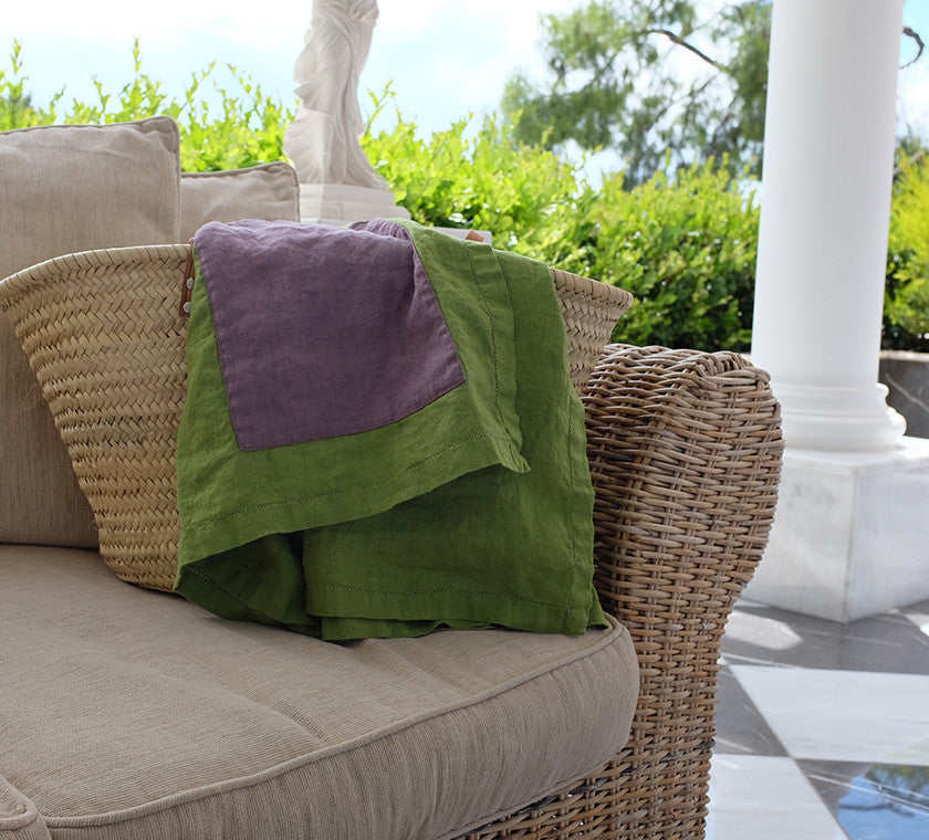 High Quality 100% Linen Beach Towel / The TOPAZA PELLA