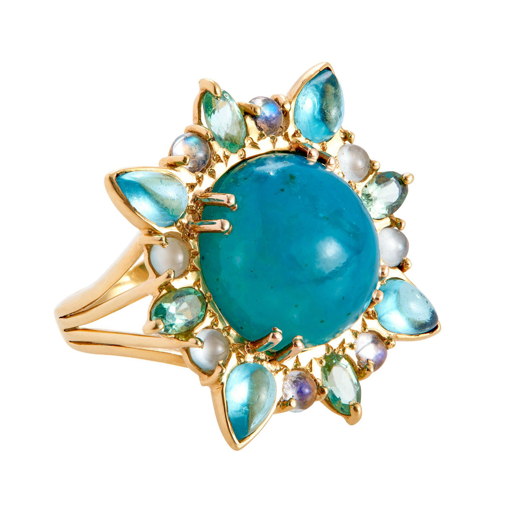 Blue Burst Ring