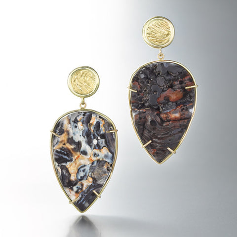 Reversible Agate Earrings