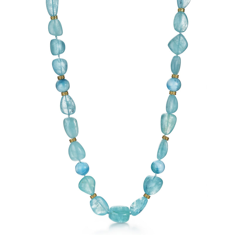 Orbit Aquamarine & Larimar Necklace