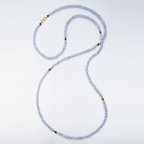 Czarina Multi-Strand Chalcedony Necklace