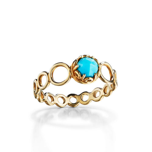 Cabochon turquoise delicate ring