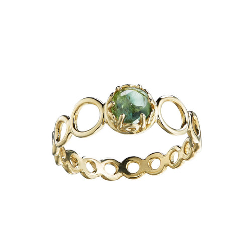 Czarina Delicate Stacking Ring Green Tourmaline