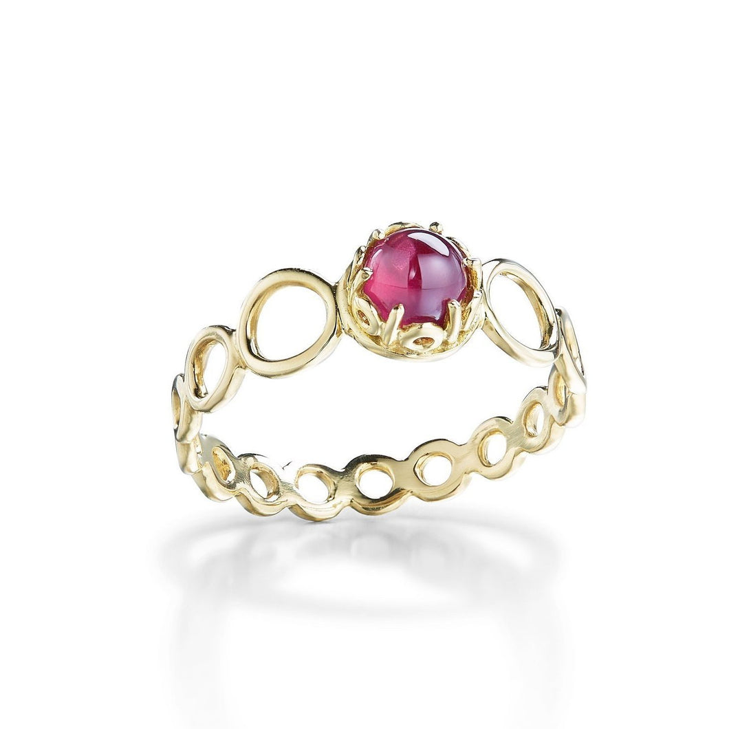 Czarina Delicate Stacking Ring Pink Tourmaline
