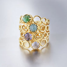 Czarina Delicate Stacking Ring Turquoise