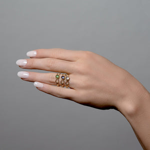 Czarina Delicate Stacking Ring Iolite