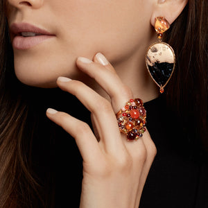 Dagny Stacking Ring, Citrine & Carnelian