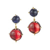Dagny Two Stone Earring Red