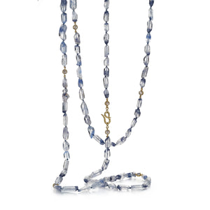Czarina Triple Strand Dumortierite Necklace
