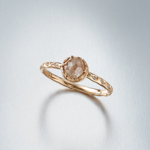 Czarina Solitaire Pinkish Diamond Ring