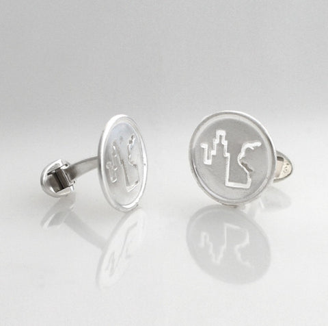 Fresh Air Fund Silver Cufflinks