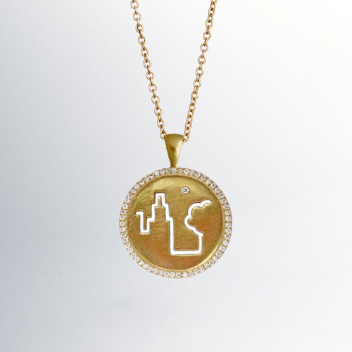 Daria de koning fresh air fund 18k gold pendant with diamond surround fresh air fund 18k gold pendant with diamond surround aloadofball Gallery