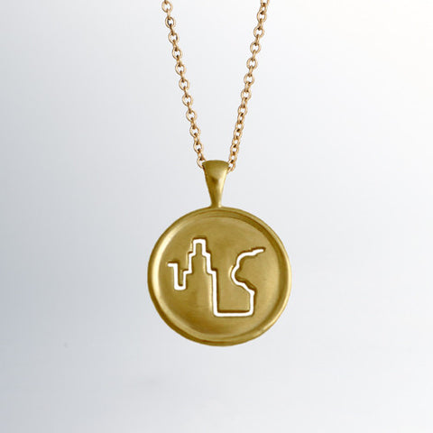 Fresh Air Fund 18k Gold Pendant