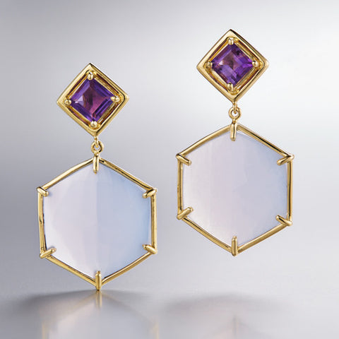 Hex Large Earrings
