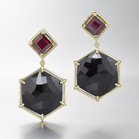 Large Hex Earrings