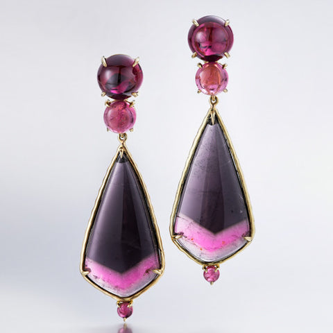 Hot Pink Night Earrings