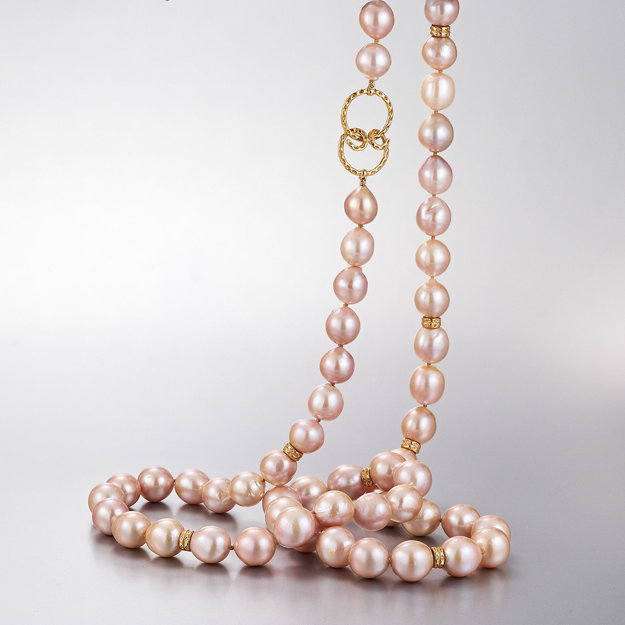 gold necklace pink yellow new property cultured room l pearl