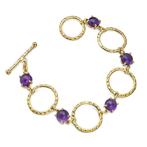 amethyst cabochon bangle bracelet