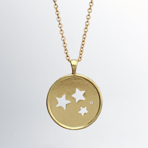 Project Glimmer Gold Pendant with Single Diamond