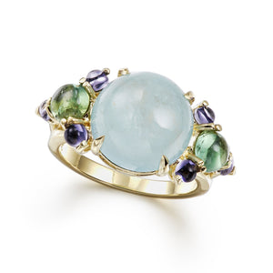 Dagny Splendid Aquamarine Ring